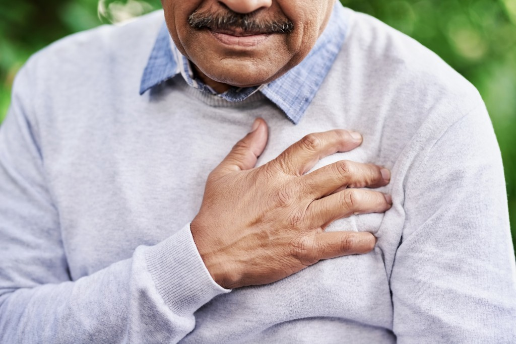 Man having heart failure