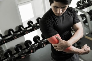 Man with inflammation in arm