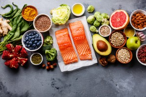 Healthy food for anti-inflammatory diet